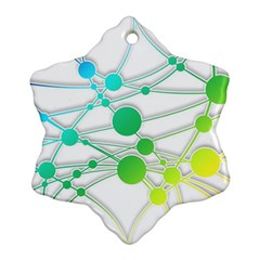 Network Connection Structure Knot Snowflake Ornament (2 Side)