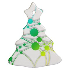 Network Connection Structure Knot Christmas Tree Ornament (2 Sides)