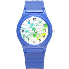 Network Connection Structure Knot Round Plastic Sport Watch (s)