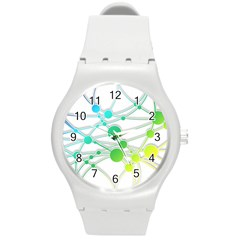 Network Connection Structure Knot Round Plastic Sport Watch (m)