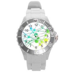Network Connection Structure Knot Round Plastic Sport Watch (l)