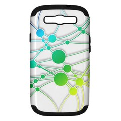 Network Connection Structure Knot Samsung Galaxy S Iii Hardshell Case (pc+silicone)