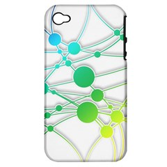 Network Connection Structure Knot Apple Iphone 4/4s Hardshell Case (pc+silicone)