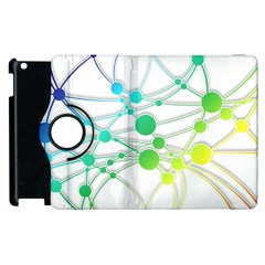 Network Connection Structure Knot Apple Ipad 2 Flip 360 Case