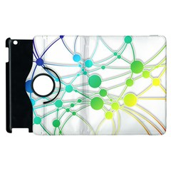 Network Connection Structure Knot Apple Ipad 3/4 Flip 360 Case
