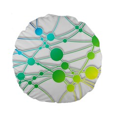 Network Connection Structure Knot Standard 15  Premium Round Cushions