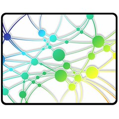 Network Connection Structure Knot Double Sided Fleece Blanket (medium)