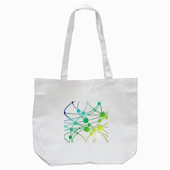 Network Connection Structure Knot Tote Bag (white)