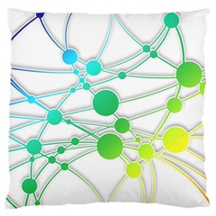 Network Connection Structure Knot Standard Flano Cushion Case (one Side)