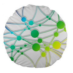 Network Connection Structure Knot Large 18  Premium Flano Round Cushions