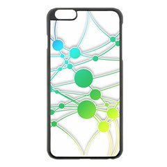 Network Connection Structure Knot Apple Iphone 6 Plus/6s Plus Black Enamel Case