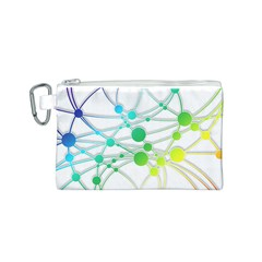 Network Connection Structure Knot Canvas Cosmetic Bag (s)
