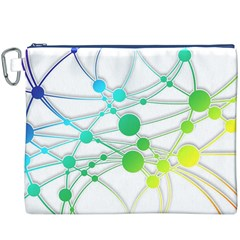 Network Connection Structure Knot Canvas Cosmetic Bag (xxxl)