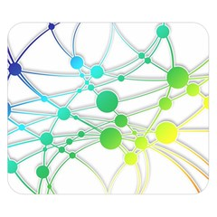 Network Connection Structure Knot Double Sided Flano Blanket (small)