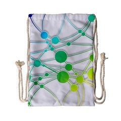Network Connection Structure Knot Drawstring Bag (small)