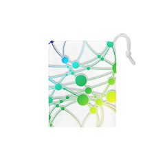 Network Connection Structure Knot Drawstring Pouches (xs)