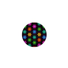Pattern Background Colorful Design 1  Mini Buttons