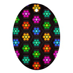 Pattern Background Colorful Design Ornament (oval)