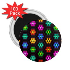 Pattern Background Colorful Design 2 25  Magnets (100 Pack)
