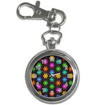 Pattern Background Colorful Design Key Chain Watches Front