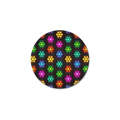 Pattern Background Colorful Design Golf Ball Marker (10 Pack)