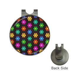 Pattern Background Colorful Design Hat Clips With Golf Markers