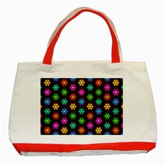 Pattern Background Colorful Design Classic Tote Bag (Red)