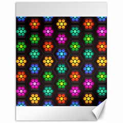 Pattern Background Colorful Design Canvas 12  x 16
