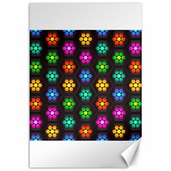 Pattern Background Colorful Design Canvas 12  X 18