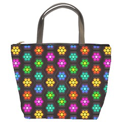Pattern Background Colorful Design Bucket Bags