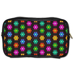 Pattern Background Colorful Design Toiletries Bags 2 Side