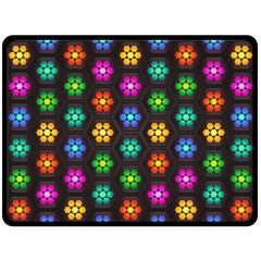 Pattern Background Colorful Design Fleece Blanket (large)