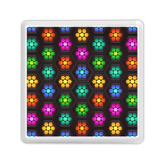 Pattern Background Colorful Design Memory Card Reader (square)
