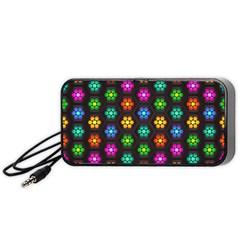 Pattern Background Colorful Design Portable Speaker (black)