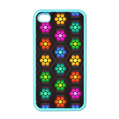 Pattern Background Colorful Design Apple Iphone 4 Case (color)