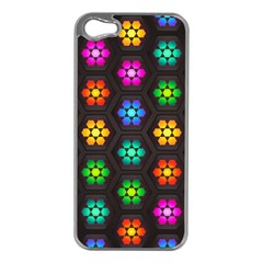 Pattern Background Colorful Design Apple Iphone 5 Case (silver)
