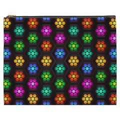 Pattern Background Colorful Design Cosmetic Bag (xxxl)