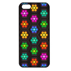 Pattern Background Colorful Design Apple Iphone 5 Seamless Case (black)