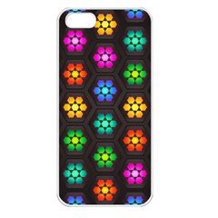 Pattern Background Colorful Design Apple Iphone 5 Seamless Case (white)