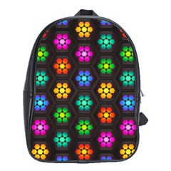 Pattern Background Colorful Design School Bags (xl)