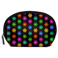 Pattern Background Colorful Design Accessory Pouches (Large)