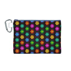 Pattern Background Colorful Design Canvas Cosmetic Bag (m)
