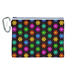 Pattern Background Colorful Design Canvas Cosmetic Bag (l)
