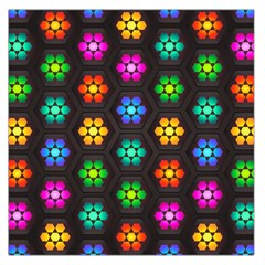 Pattern Background Colorful Design Large Satin Scarf (square)