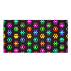 Pattern Background Colorful Design Satin Shawl