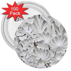 Pattern Motif Decor 3  Buttons (100 Pack)