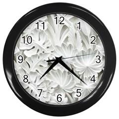 Pattern Motif Decor Wall Clocks (black)