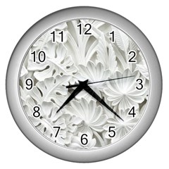 Pattern Motif Decor Wall Clocks (silver)