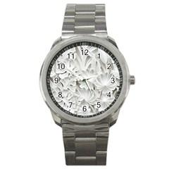 Pattern Motif Decor Sport Metal Watch