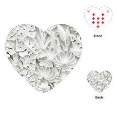 Pattern Motif Decor Playing Cards (heart)